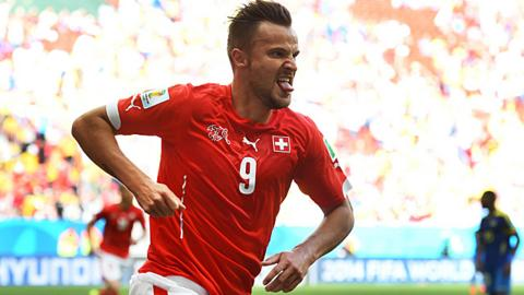 World Cup 2014: Switzerland's Haris Seferovic celebrates