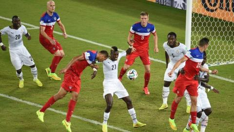 John Brooks scores the winning goal for the United States
