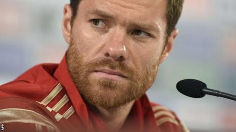 Spain midfielder Xabi Alonso
