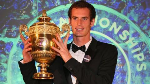 Wimbledon 2013 champion Andy Murray