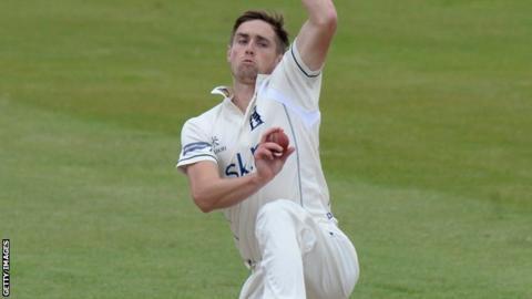 Warwickshire and England fast bowler Chris Woakes