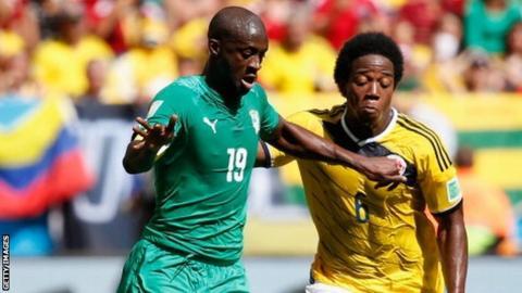 Yaya Toure (left)