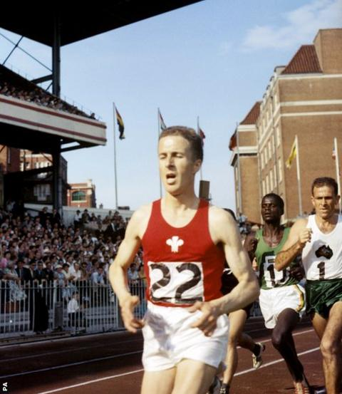 Cardiff 1958: In the British Empire and Commonwealth Games held at Cardiff Arms Park , John Merriman won silver in the 6 miles race.