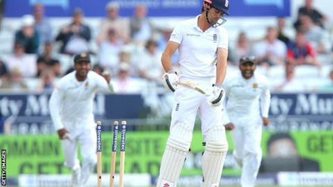 England captain Alastair Cook after his dismissal for 16 at Headingley