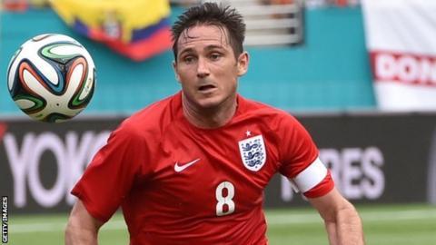 Frank Lampard in England action against Ecuador in Miami