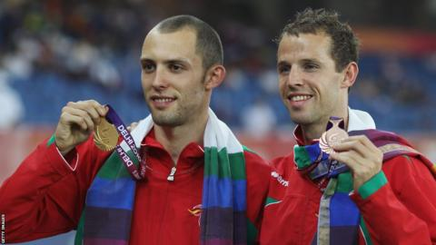 Delhi 2010: 400m hurdler Dai Greene added Commonwealth gold to his World title with fellow Welshman Rhys Williams picking up a bronze.