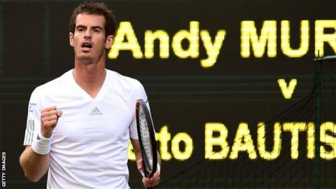 Andy Murray on Wimbledon Centre Court