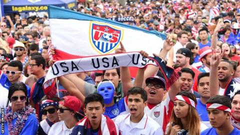 USA World Cup fans
