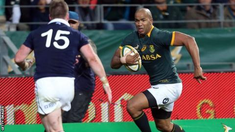 Scotland had beaten USA, Canada and Argentina before Saturday's heavy defeat to South Africa