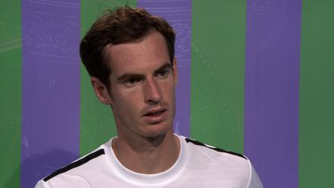Britain's Andy Murray after his loss to Grigor Dimitrov