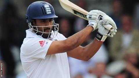 Ravi Bopara in action for England