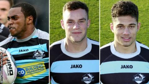 Iliess Macani, Joel Wicks and James Woodburn-Hall