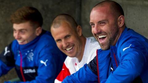 Kenny Miller and Kris Boyd of Rangers