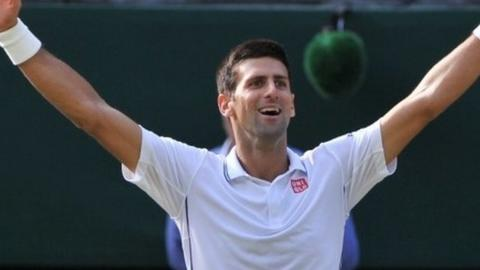 Novak Djokovic takes the Wimbledon title for a second time
