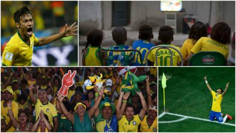 Neymar and Brazil fans