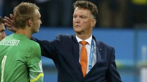 Louis van Gaal must now lift his players for their play-off with Brazil