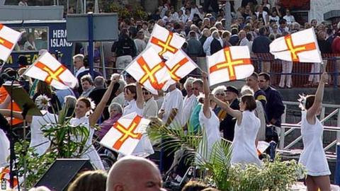 Guernsey's Island Games opening ceremony in 2003.