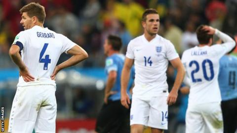 England were eliminated after just two matches of the group stage