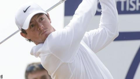 Rory McIlroy carded a 68 in the third round of the Scottish Open