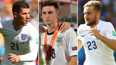 Ross Barkley, Patrick Roberts and Luke Shaw