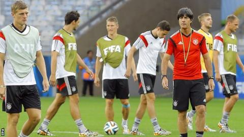 Joachim Low and Germany players