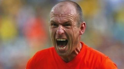 Dutch forward Arjen Robben