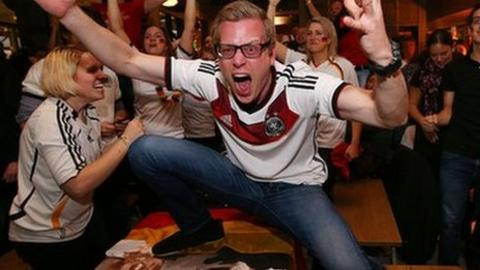 Germany fans celebrate