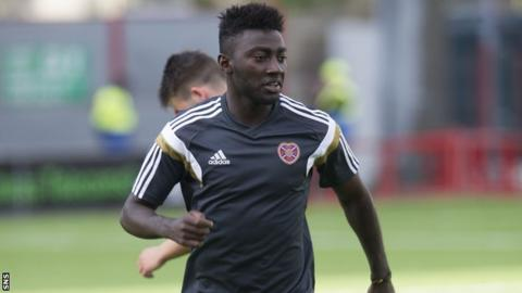 Prince Buaben has signed a one-year deal with Hearts