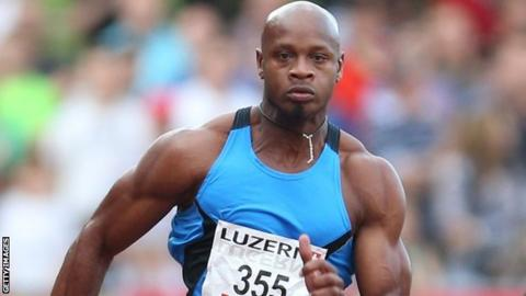 Sprinter Asafa Powell