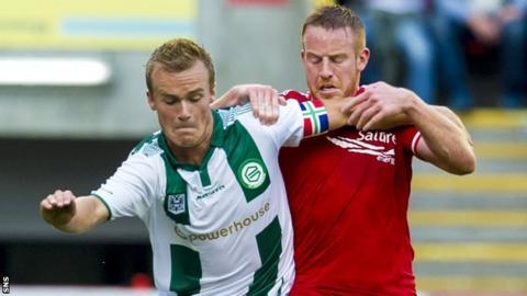 Aberdeen in action against Groningen