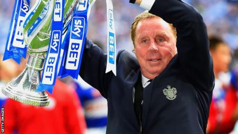 QPR manager Harry Redknapp with the Championship play-off trophy
