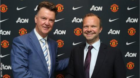 Ed Woodward (left) and Louis Van Gaal