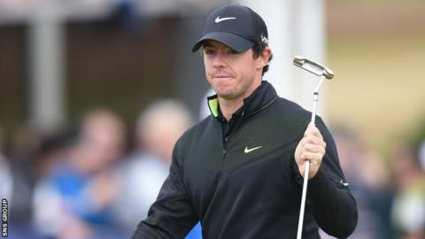 Rory McIlroy broke the course record at Royal Aberdeen on his first round