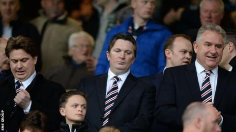 The board at Rangers have come in for criticism from a section of the club's support