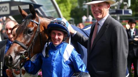 Taghrooda, jockey Paul Hanagan and trainer John Gosden