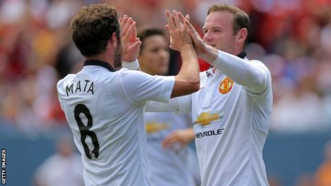 Mata and Rooney