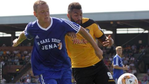 Newport County continued their preparations for the new season with a 1-0 friendly win over Carl Zeiss Jena at Spytty Park.