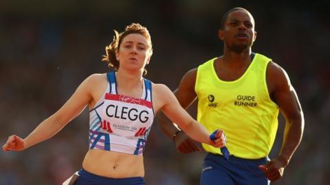 Scotland's Libby Clegg wins Para-sport T11/12 100m