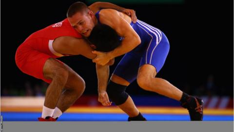 Craig Pilling beat Omar Tafail of England 8-5 in the men's freestyle 57kg category to secure bronze - Wales' first ever medal in wrestling.