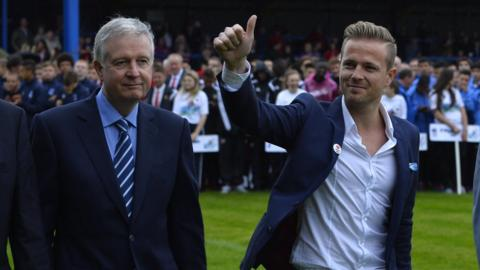 Westlife member Nicky Byrne opened the tournament at the Coleraine Showgrounds on Sunday night