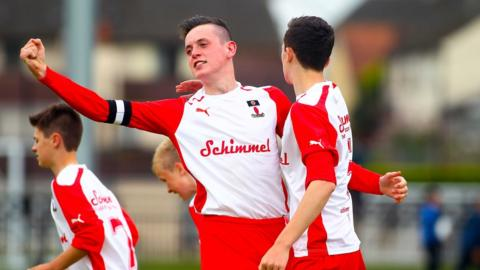 David Parkhouse scored for County Tyrone against County Fermanagh in the Junior section Milk Cup game