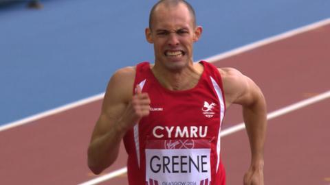 Wales' Dai Greene fails in 400m hurdles