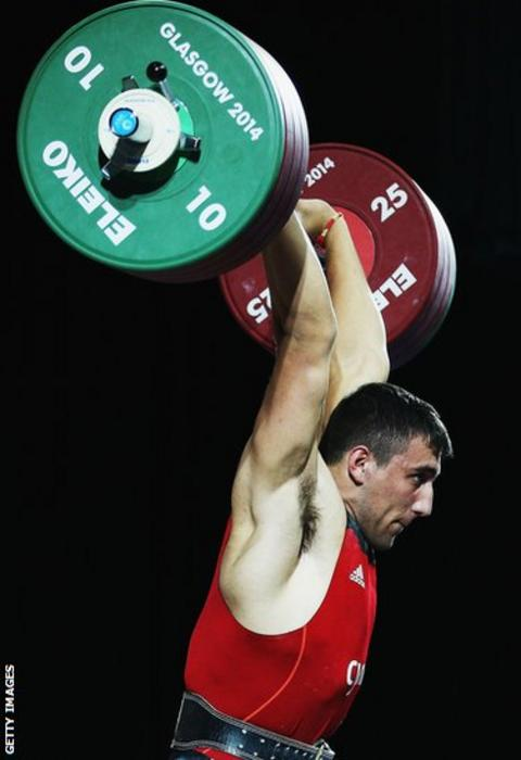 Weightlifter Darius Jokarzadeh missed out on a medal when he finished fourth in the +105kg class.