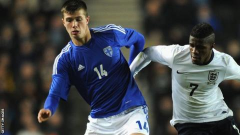 Daniel O'Shaughnessy (left) and Wilfried Zaha
