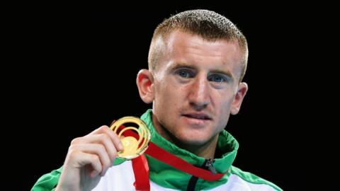 Boxer Paddy Barnes secured Northern Ireland's first gold medal of the Games by winning his light-flyweight final