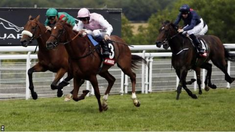 Sultanina ridden by William Buick wins the Nassau Stakes