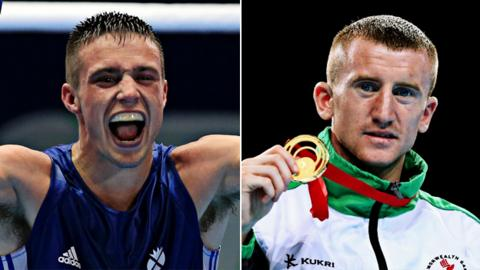Josh Taylor (left) and Paddy Barnes