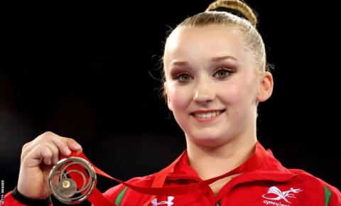 Gymnast Georgina Hockenhull won bronze in the beam final.