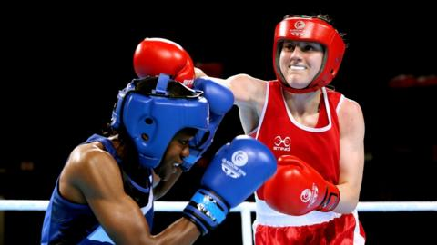 Belfast's Michaela Walsh (right) lost narrowly to England's Nicola Adams in the women's flyweight final