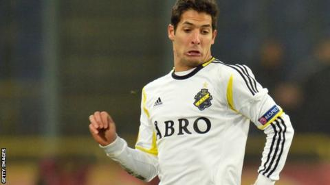 Celso Borges playing for AIK